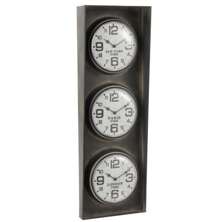 Horloge 3 Villes J-line