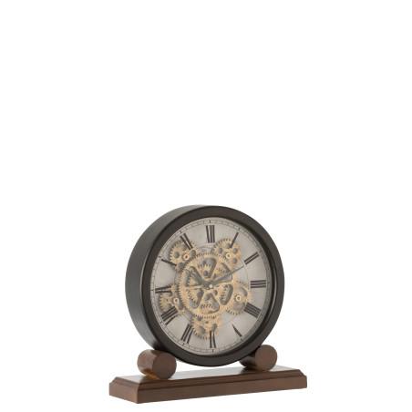 Horloge Moto métal antique Gris/Or
