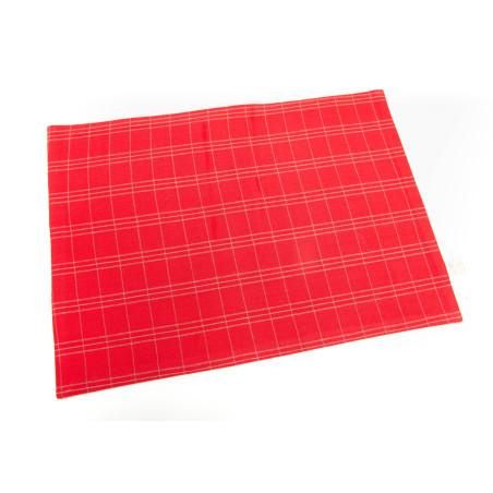 Lot de 6 sets de table en coton bio rouge