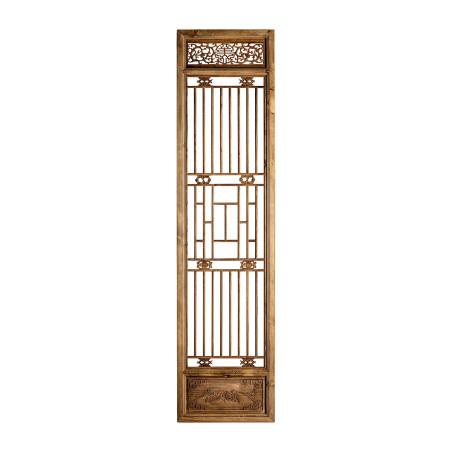porte sculptée décorative en bois massif naturel Vical Home