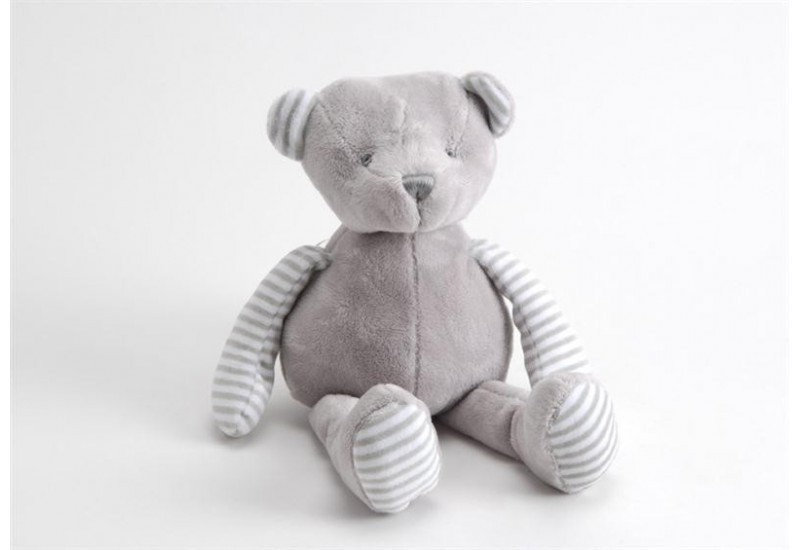 Peluche ours gris /blanc